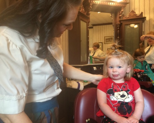 Harmony Barber Shop: Baby's First Haircut at Disney - by disneyunder3.com
