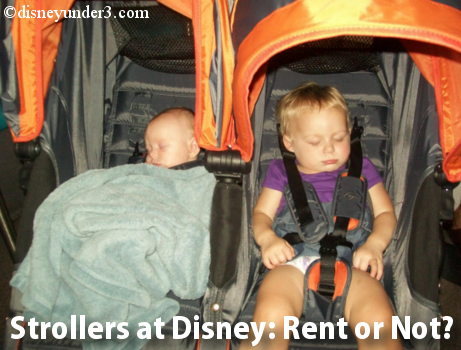 Renting a stroller at Disney World