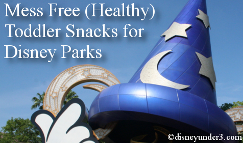 Mess Free Toddler Snacks for Disney Parks