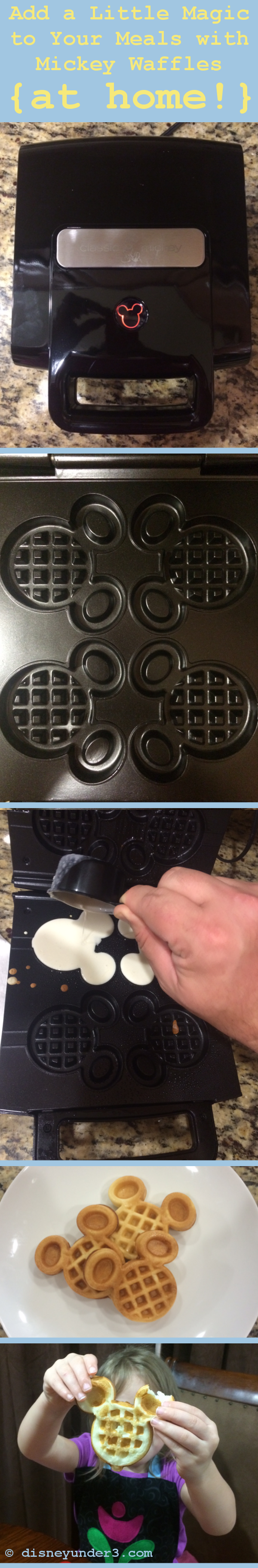 Mickey Mouse Waffles at Home