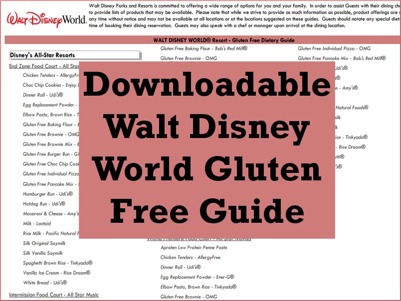 WDW Gluten Free Guide