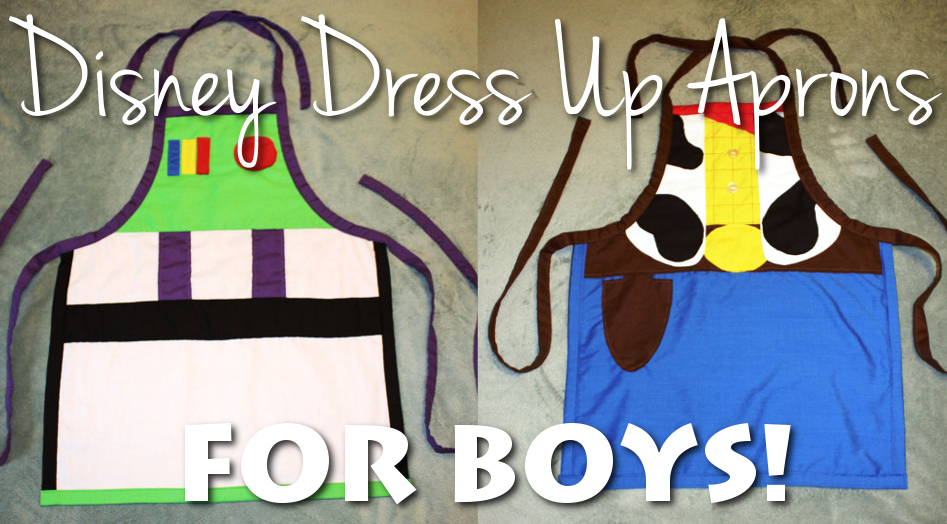 Disney dress up aprons for BOYS!