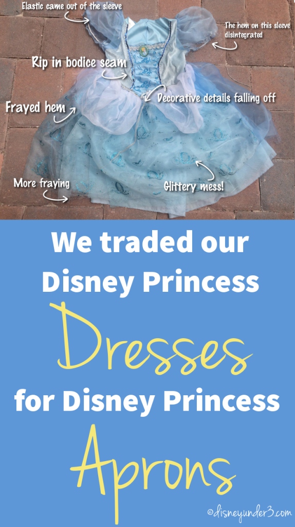 We traded our Disney Princess Dresses for Disney Princess Aprons