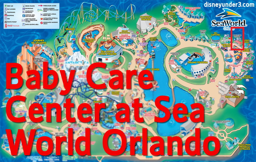Baby Care Center at Sea World Orlando for visiting with Infants or Toddlers. Written by disneyunder3.com